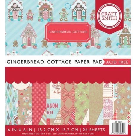 Cuaderno de cartulinas para scrapbooking Gingerbread Cottage
