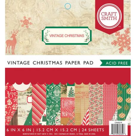 Cuaderno con cartulinas para scrapbook Vintage Christmas
