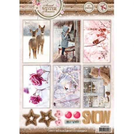 Troquelados navideños cartulina Die Cut Sweet Winter Season