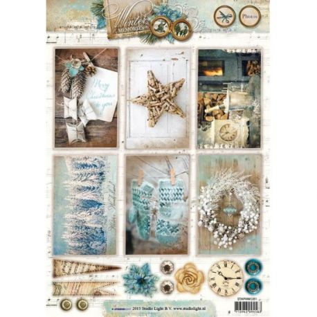 Troquelados navideños cartulina Die Cut Winter Memories 2