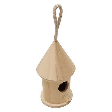 Casita para Pájaros de madera Cilíndrica