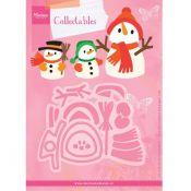 Troquel Collectable Muñeco de Nieve