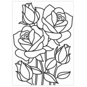 Embossing Folder Darice - Mosaic Rose