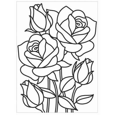 Embossing Folder Darice - Mosaic Rose