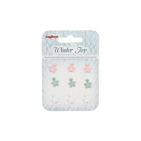 Winter Joy Estrellas de Resina con Remaches