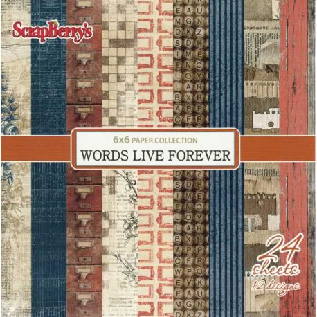 Words Live Forever Paper Set 15x15