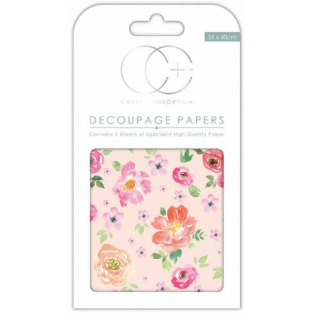 Papeles Decoupage Peach Bloom