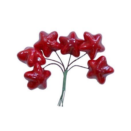 Set de adornos Estrellas rojas
