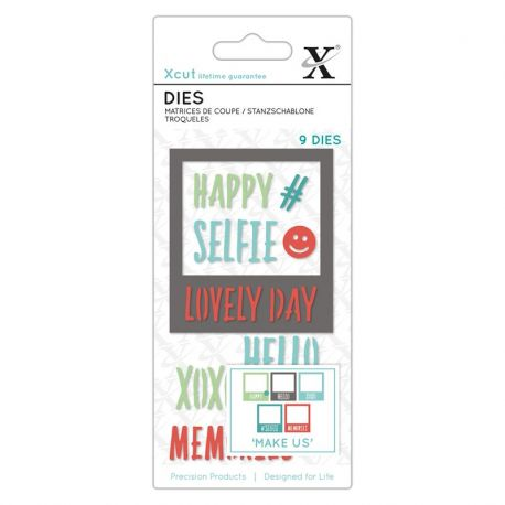Xcut Dies - Polaroid frame and sentiments