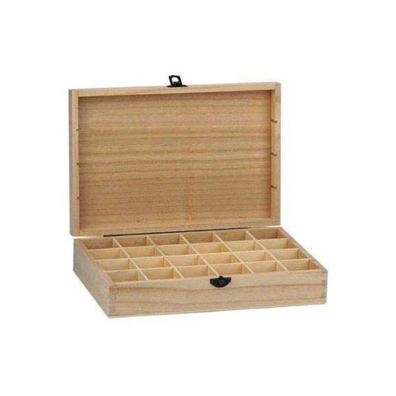 Caja de madera para decorar 24 compartimentos - Cajitas de madera para decorar ...