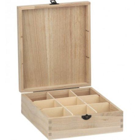 Caja para Infusiones 9 compartimentos