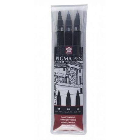 Set 3 rotuladores Pigma Pen