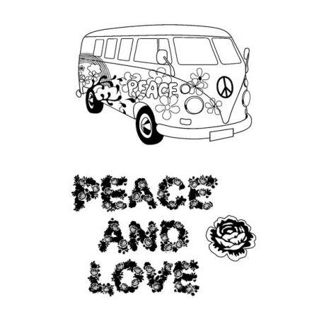 Sellos Acrílicos Peace & Love