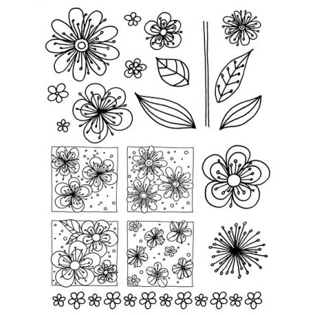 Artemio Sellos acrílicos transparentes Flores (10001252)