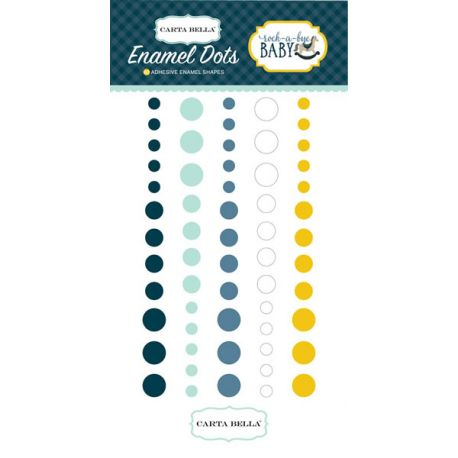 Rock-a-Bye Boy Enamel Dots