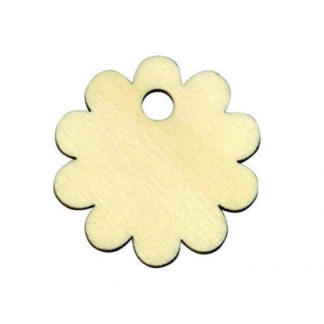 Etiqueta de madera Flor
