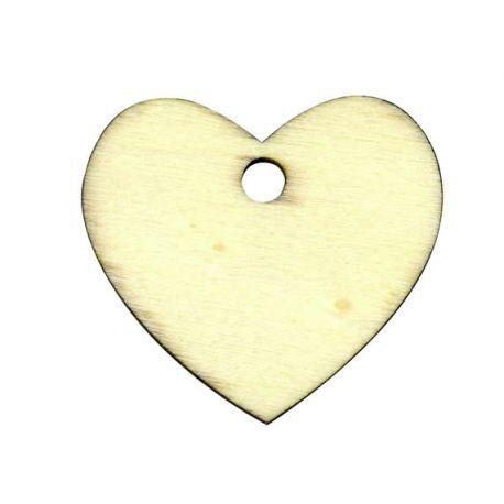 Etiqueta de madera Corazón