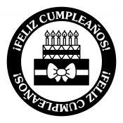 Sello Caucho Feliz Cumpleaños
