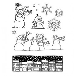 Set de Sellos acrílicos Nieve