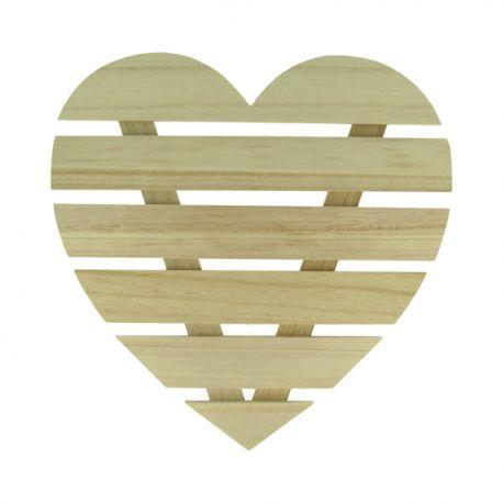Corazón lamas de madera