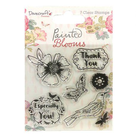 Sellos Acrílicos Painted Blooms Dovecraft