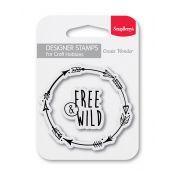 Sellos acrílicos - Free & Wild de Scrapberry's