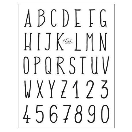Set de sellos acrílicos Alfabeto Tipografía Moderna Viva Decor