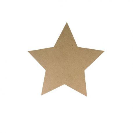 Silueta Estrella Mediana realizada en tablero DM