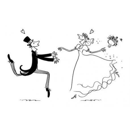 Sello Caucho Boda recién casados encuentro Artemio