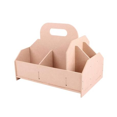Caja para herramientas en DM seis compartimentos para montar