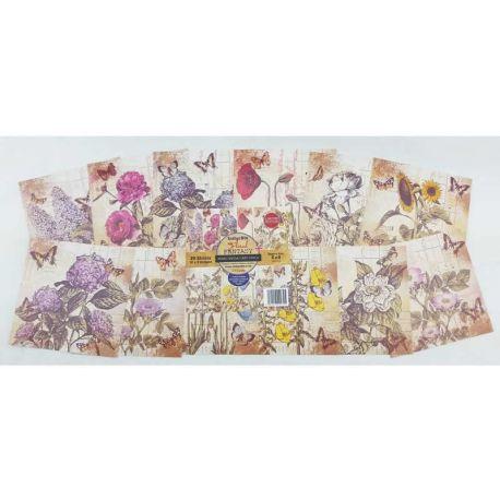 Floral Fantasy Paper pad IndigoBlu Scrapbooking