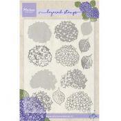 Set sellos acrílicos capas Hortensias
