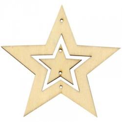 Estrellas madera para movil