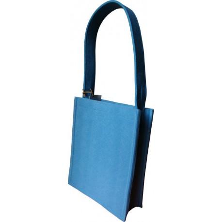 Bolso fieltro Azul
