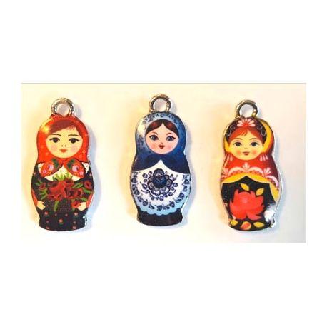Metal Charms - Muñecas rusas