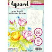 Bloc Acuarela para colorear - Flores 2