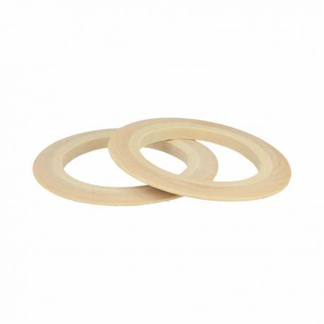 Set pulseras disco de madera Lucy Artemio