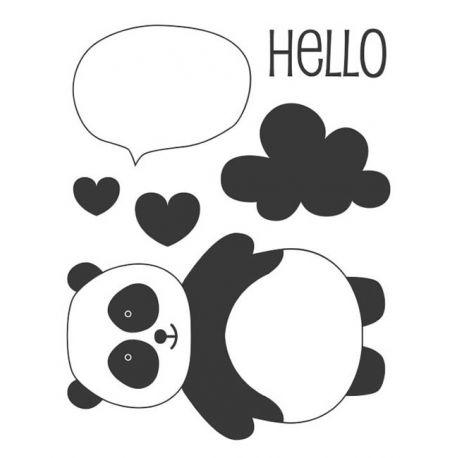 Sellos Acrílicos Adorable - Panda