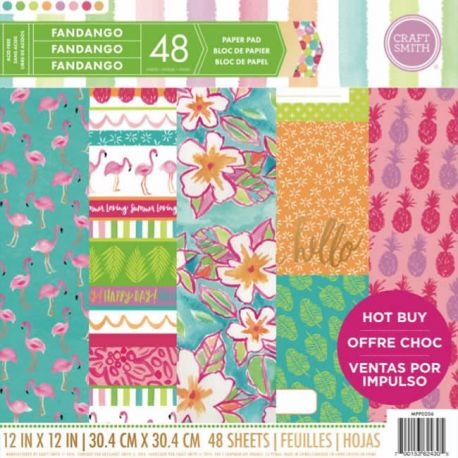 Bloc de cartulinas estampadas para scrapbooking 30x30 Craft Smith Fandango