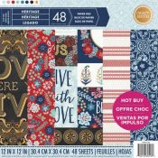 Bloc de cartulinas estampadas para scrapbooking 30x30 Craft Smith Heritage