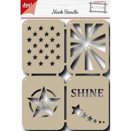 Stencil para estarcido Joy Crafts Stars