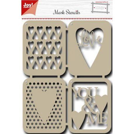 Stencil para estarcido Joy Crafts Love