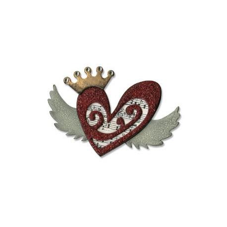 Bigz Die - Tim Holtz Heart Wings