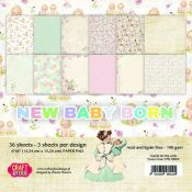 Craft & You New Baby Born Set para scrapbooking 15x15
