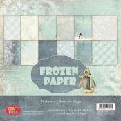 Set de papeles para scrapbooking Frozen Paper 15x15 de Craft & You