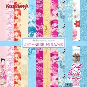 Set de papel para scrapbooking Japanese Dream Paper Set 15x15 de Scrapberry's