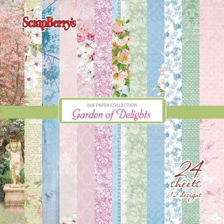 Set de papeles para scrapbooking Garden of Delight Paper Set 15x15