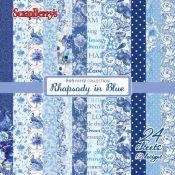 Surtido de papeles para scrapbooking Rhapsody in Blue Paper Pad 15x15 de Scrapberry's