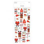 Glitter Stickers - Papá Noel