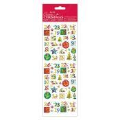 Pegatinas Calendario del Adviento Create Christmas de Docrafts